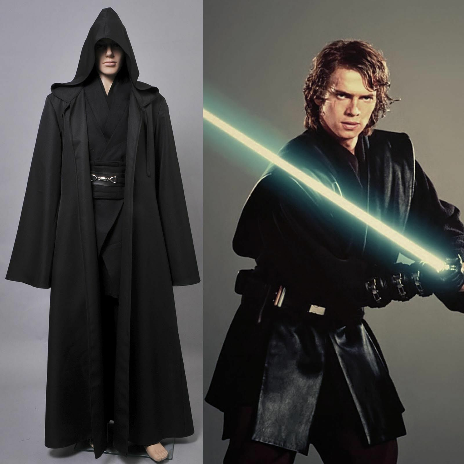 star wars jedi sith anakin skywalker halloween cosplay costume outfit tunic suit ebay. Black Bedroom Furniture Sets. Home Design Ideas