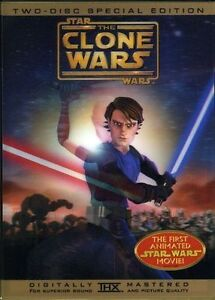 Star Wars: The Clone Wars (DVD, 2008, 2-...