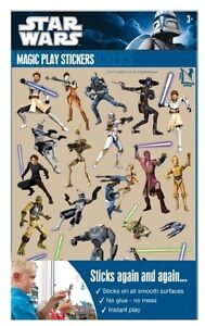 Star-Wars-Clone-Wars-Magic-Play-Sticker-Aufkleber-Deko-Party-Geburtstag-Fenster