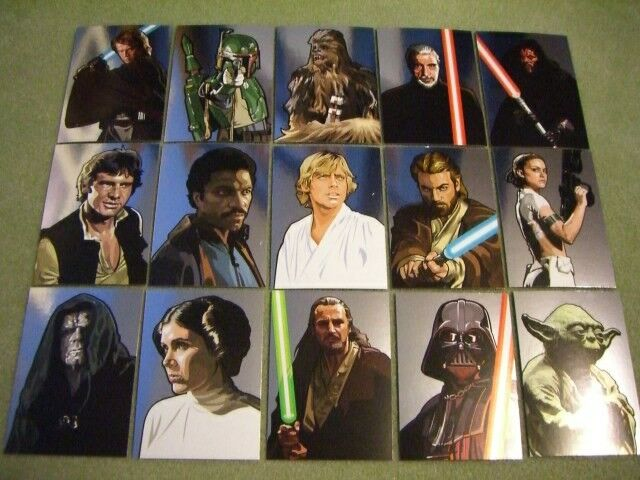 Star Wars Galaxy 5 Martinez 15 Card Silver Foil Set