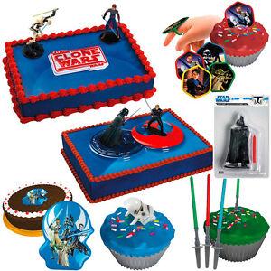 Star wars kuchendeko tortendeko kindergeburtstag party geburtstag deko motto ebay - Tortendeko kinder ...
