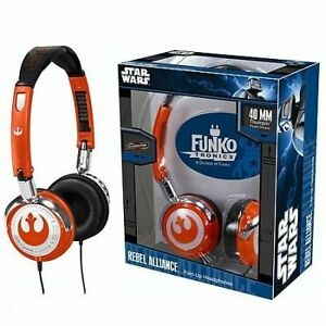 Star wars rebel alliance fold up headphones by funko orange standard 3