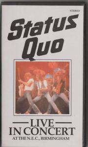 Status Quo rare Video Live Birmingham 1982 VHS - Annaberg-Buchholz, Deutschland - Status Quo rare Video Live Birmingham 1982 VHS - Annaberg-Buchholz, Deutschland