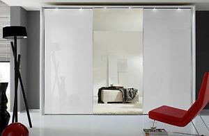 staudm bel sonate rom schwebet renschrank mit spiegel kleiderschrank wei glas ebay. Black Bedroom Furniture Sets. Home Design Ideas