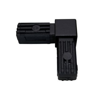 Steckverbinder-Rechter-Winkel-stahlverstaerkt-20x20x1-5-schwarz-Polyamid