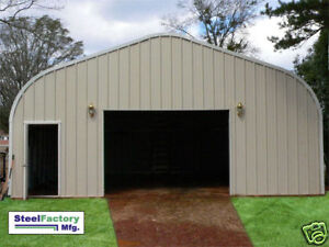 Steel factory prefab p20x30x12 residential metal garage for Residential garage kits