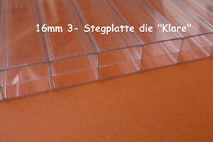 stegplatte 3 fach 16mm die klare holhkammerplatte. Black Bedroom Furniture Sets. Home Design Ideas