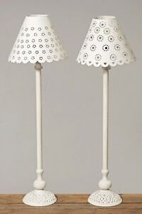 stehlampe lampe wei metall landhausstil stehleuchte ebay. Black Bedroom Furniture Sets. Home Design Ideas
