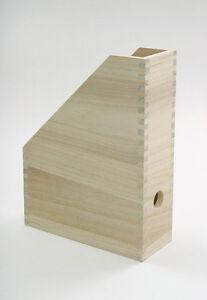 stehsammler zeitschriftensammler zeitschriftenbox aus holz ebay. Black Bedroom Furniture Sets. Home Design Ideas
