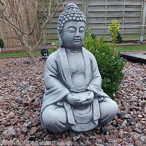 stein buddha feng shui shiva steinfigur massiv skulptur garten deko frostfrei aa ebay. Black Bedroom Furniture Sets. Home Design Ideas