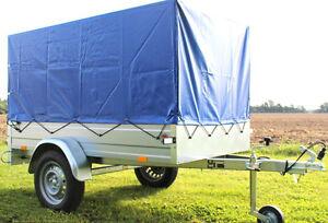 stema pkw anh nger 750kg spriegel plane hochplane blau. Black Bedroom Furniture Sets. Home Design Ideas