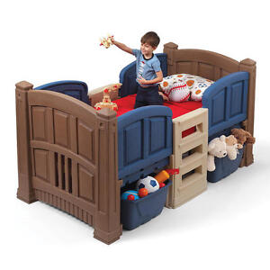 Twin beds frames step2 boy 39 s loft storage twin bed for Boys twin bed with storage