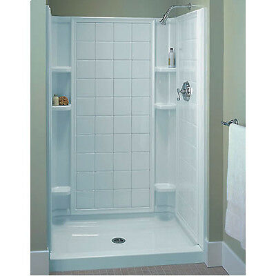 Sterling Ensemble White Vikrell 3 Piece Alcove Shower
