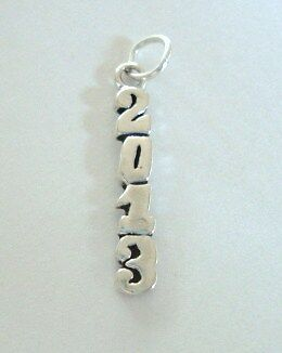 Sterling Silver Charm Vertical Year 2013 Celebration, Class of 2013 Graduation in Jewelry & Watches, Other | eBay