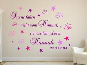 sterne fallen nicht vom himmel wand spruch wandtattoo. Black Bedroom Furniture Sets. Home Design Ideas