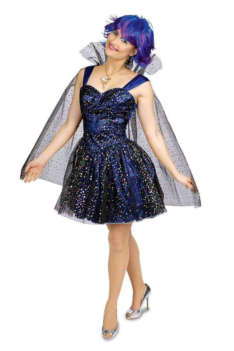 sternen fee elfe sterntaler kleid mit umhang damen kost m karneval fasching neu ebay. Black Bedroom Furniture Sets. Home Design Ideas