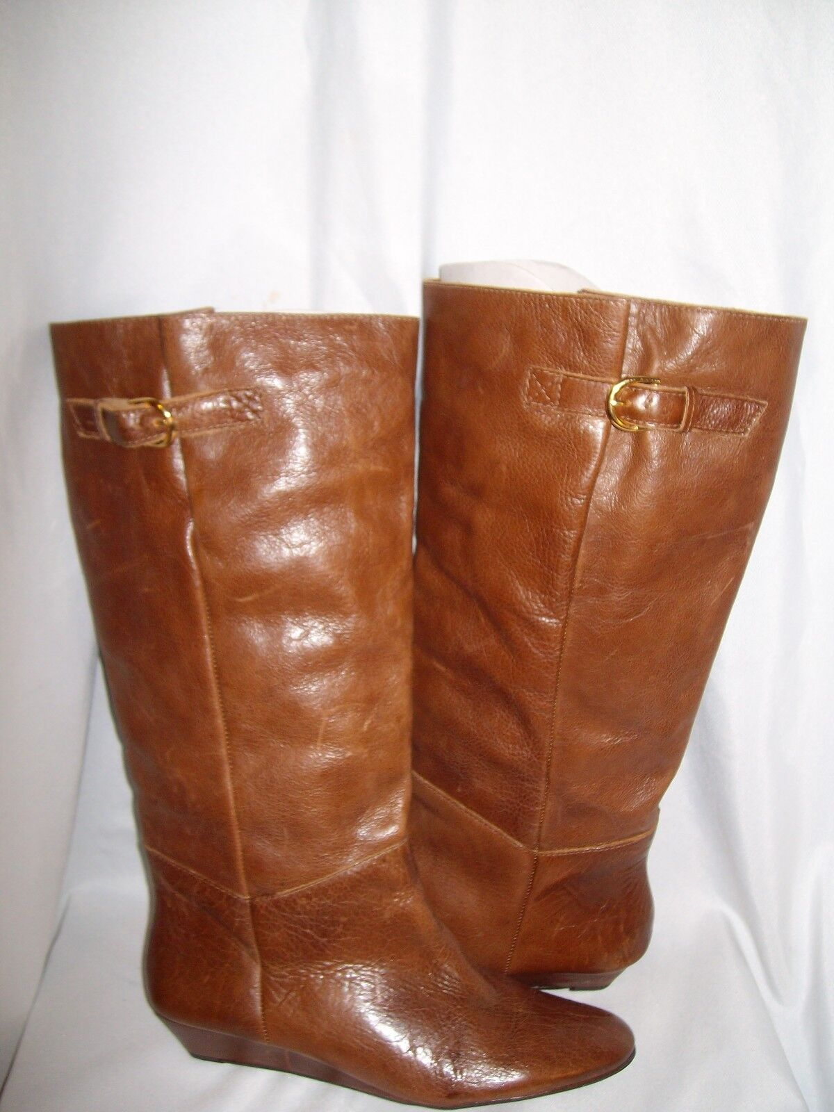 Steven Steve Madden Intyce Brown Leather New Womens Knee High Boots Shoes 6 M