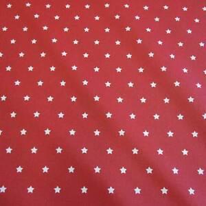 stoff baumwollstoff beschichtet sterne rot wei abwaschbar tischdecke frankreich ebay. Black Bedroom Furniture Sets. Home Design Ideas
