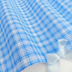 stoff blau weiss streifen kariert polyester baumwolle per meter 112cm breit x1 ebay. Black Bedroom Furniture Sets. Home Design Ideas