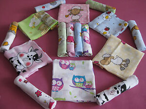 Stoffwindeln-Mullwindeln-Schmusetuecher-bedr-5-10-Spucktuecher-nappies-diapers