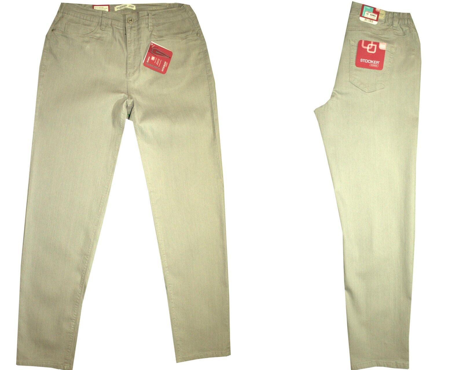 Détails sur ✅ STOOKER Dubaï Femmes Stretch Jeans Pantalon Silver Slub Wash afficher le titre d'origine