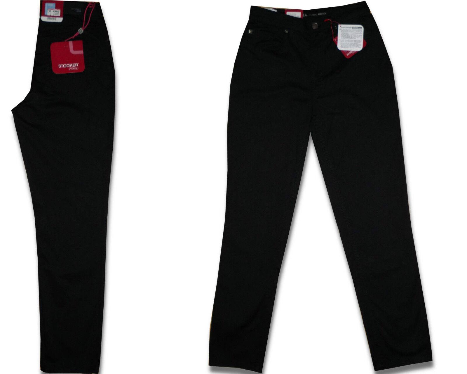 stooker nizza damen stretch jeans hose black ebay. Black Bedroom Furniture Sets. Home Design Ideas