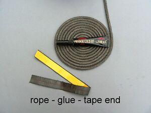 Stove door gasket round fiberglass rope graphite high for 14mm stove door rope