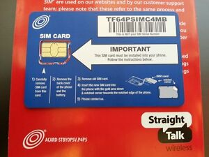 Straight Talk Micro SIM AT&T IPHONE 4 4S,SAMSUNG GALAXY S3 & Unlocked