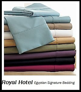 Stripe Or Solid Sheet Set 800 TC 100% Egyptian Cotton Luxury Deep Pocket Sheets in Home & Garden, Bedding, Sheets & Pillowcases | eBay