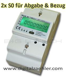 Stromzaehler-mit-2x-S0-fuer-Bezug-Abgabe-Photovoltaik-230-400V-10-65-A
