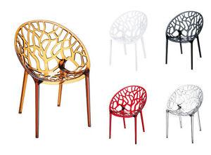 Stuhl crystal besucherstuhl design stapelstuhl kunststoff for Design besucherstuhl