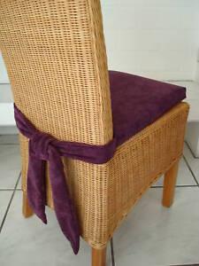 stuhlkissen mit schleife 40 x 40 mikrofaser lila ebay. Black Bedroom Furniture Sets. Home Design Ideas
