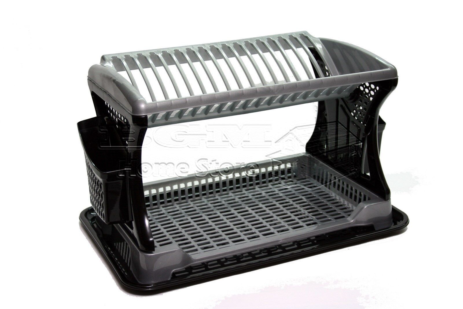 Stylish Design Two 2 Layer Plastic Dish Drainer Rack