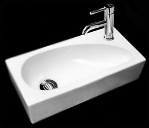 Small Hand Sink : ... -Modern-Rectangular-Small-Hand-Wash-Cloakroom-Basin-Sink-1-Tap-Hole
