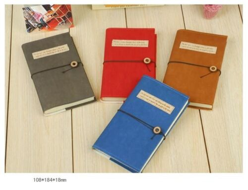 Suede Canvas HardCover Blank Note Memory Memo Writing Book Diary Button Journal in Books, Accessories, Blank Diaries & Journals | eBay