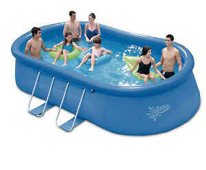Summer escapes quick up oval pool 549 x 366 x 122cm for Quick up pool oval