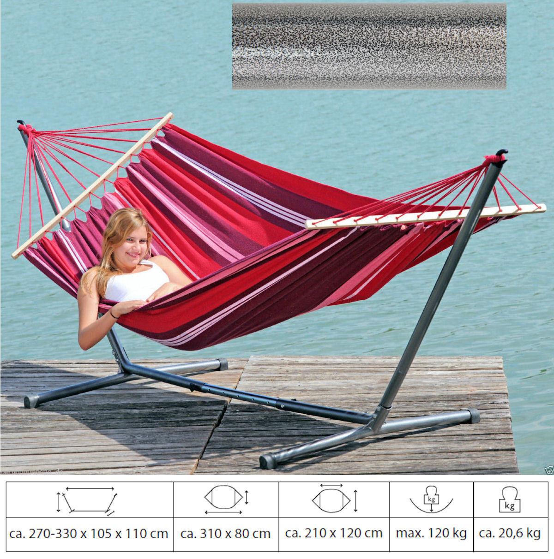 summer set wetterfeste amazonas h ngematte stabh ngematte mit gestell 4220000 ebay. Black Bedroom Furniture Sets. Home Design Ideas