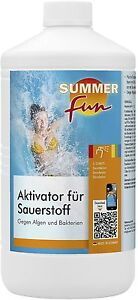 summer fun aktivator f r sauerstoff 1l gegen algen bakterien desinfektion ebay. Black Bedroom Furniture Sets. Home Design Ideas