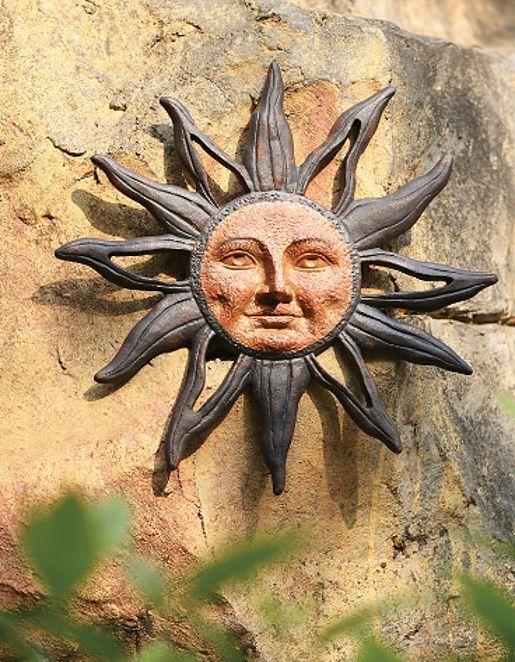 Sun Face Celestial Rust Free Cast Aluminum Indoor Outdoor