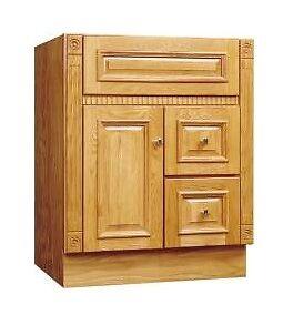sunco 24 x 21 oak matte bathroom vanity cabinet 2 drawer 1