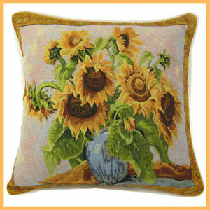 Sunflower Home Decor Cotton Blend Yarn Throw Pillow Case Cushion ...