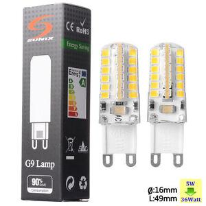 Sunix-4X-G9-5W-LED-Gluehbirne-Stiftsockel-Leuchtmittel-Lampe-Warmweiss-SU063