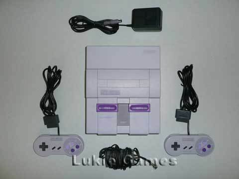Super Nintendo SNES System Console with 2 Controllers! in Video Games & Consoles, Video Game Consoles | eBay