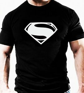 Superman t shirt casual gym wear marvel super hero workout for Free gym t shirts
