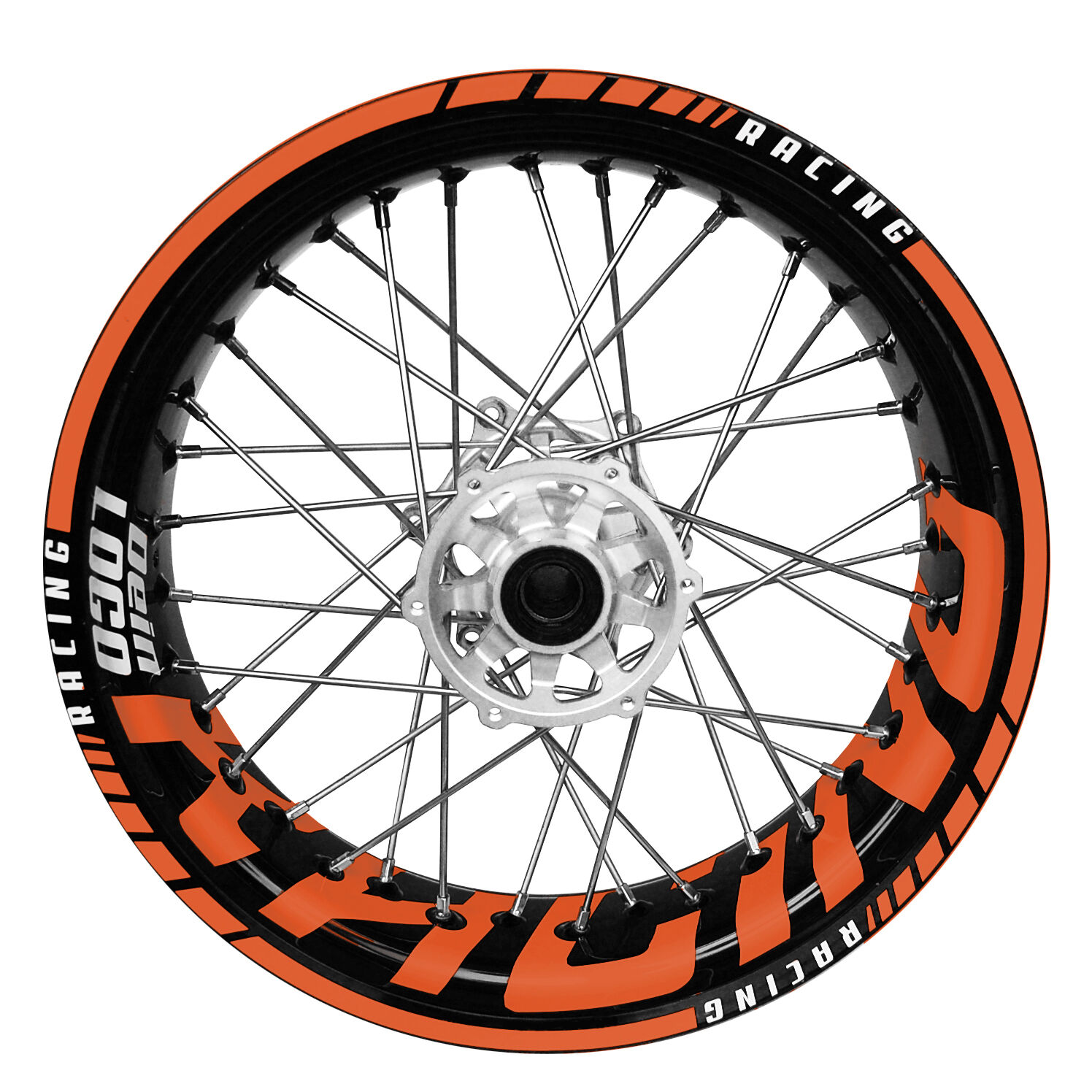 supermoto orangeracing logo felgenaufkleber motorrad