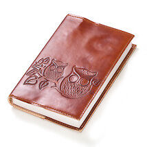 Sustainable Leather Journal - Owls on a Twig - Fair Trade Winds in Books, Accessories, Blank Diaries & Journals | eBay