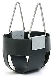 Swingset Full Bucket Swing Seat Black playground playset toddler baby S107 Black in Toys & Hobbies, Outdoor Toys & Structures, Swings, Slides & Gyms | eBay
