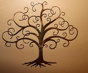 swirled tree of life metal wall art decor by hgmw ebay. Black Bedroom Furniture Sets. Home Design Ideas