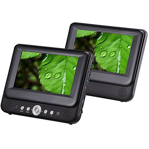 9 Inch dual screen portable dvd player