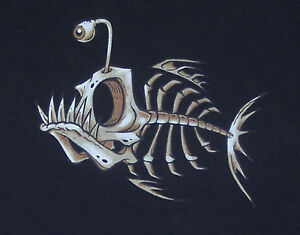 T-Shirt-Bonefish-Fish-Bone-NEU-Groessen-S-bis-3XL
